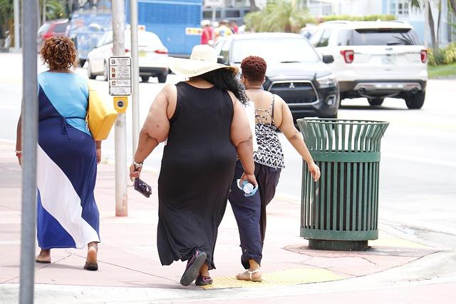 נשים שמנות מצולמות ברחוב מאחור