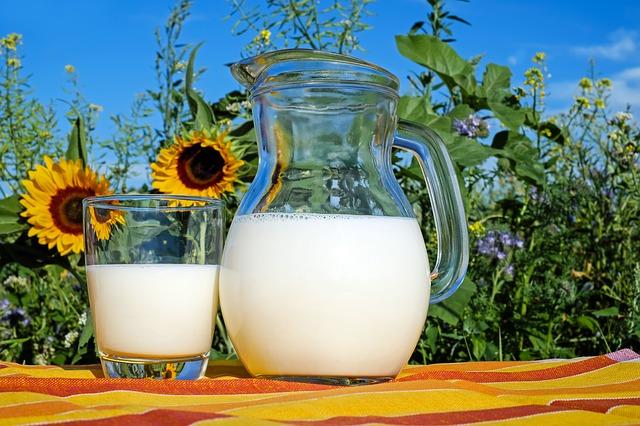 חלב בקנקן ובכוס